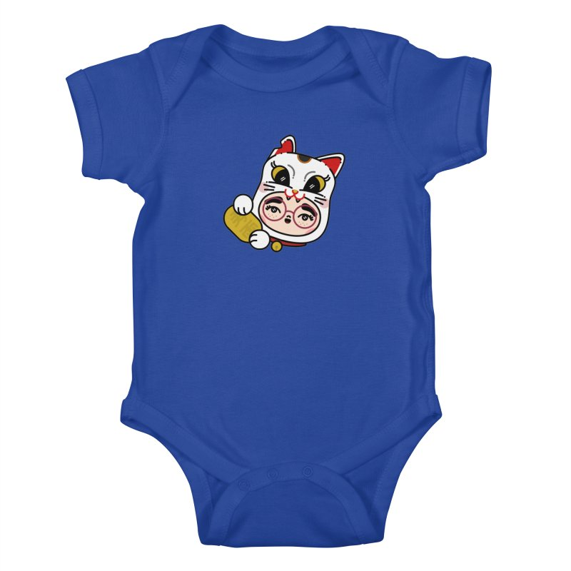 Lucky cat Kids Baby Bodysuit by 3lw's Artist Shop