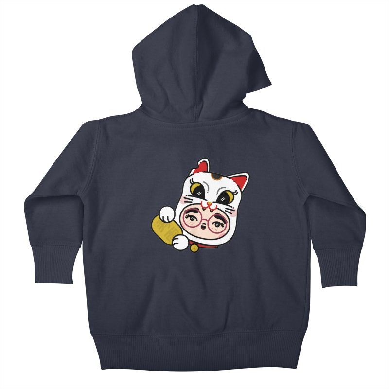 Lucky cat Kids Baby Zip-Up Hoody by Cristóbal Urrea