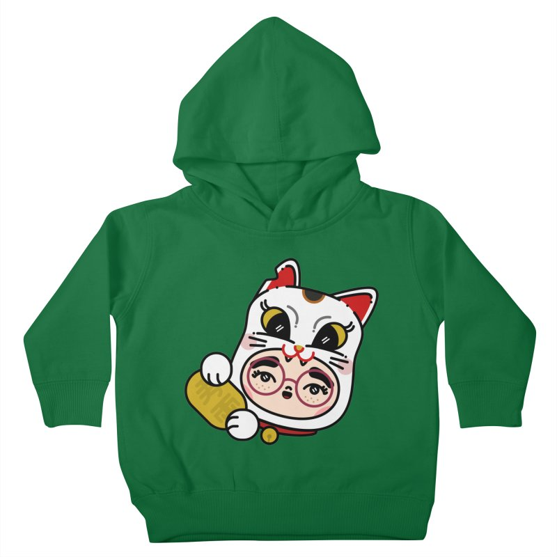 Lucky cat Kids Toddler Pullover Hoody by Cristóbal Urrea