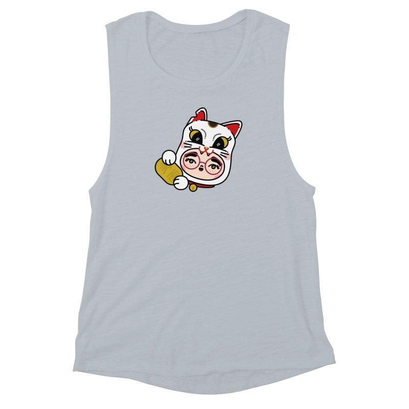 Lucky cat Women's Muscle Tank by 3lw's Artist Shop