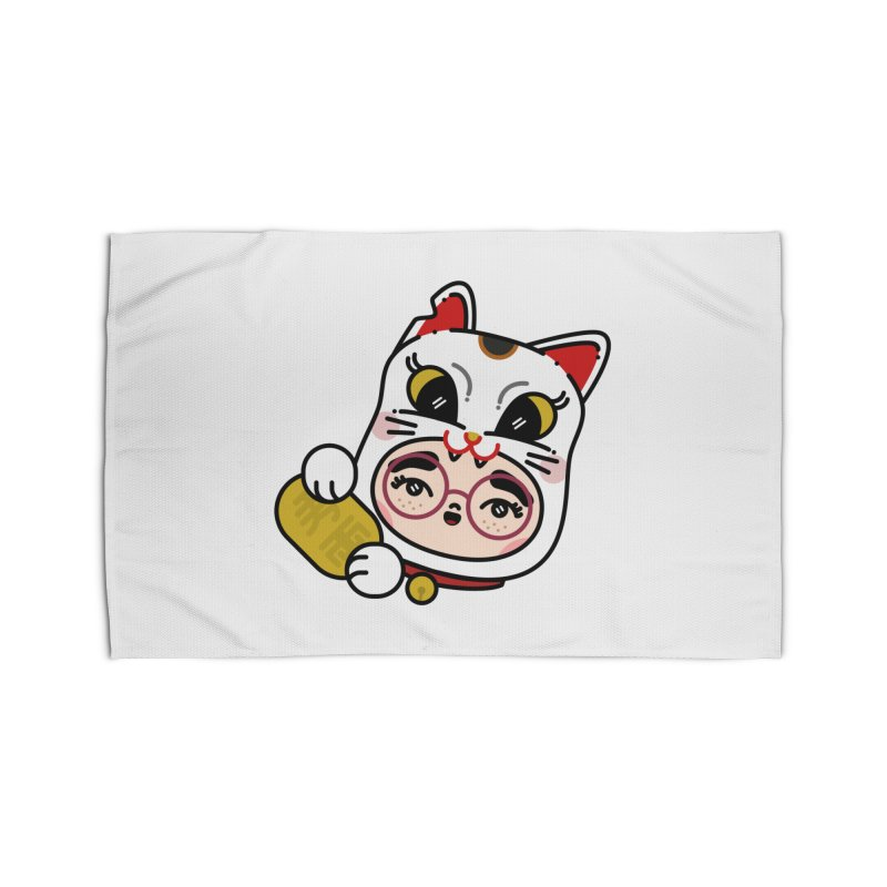 Lucky cat Home Rug by 3lw's Artist Shop