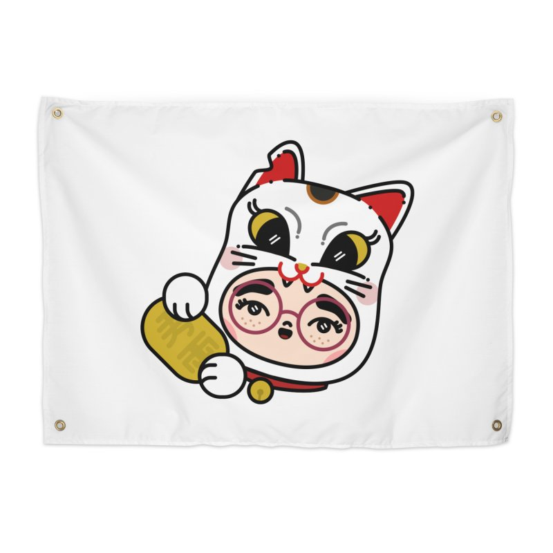 Lucky cat Home Tapestry by 3lw's Artist Shop