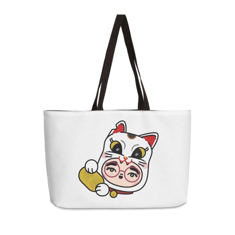 Lucky cat Accessories Weekender Bag Bag by Cristóbal Urrea
