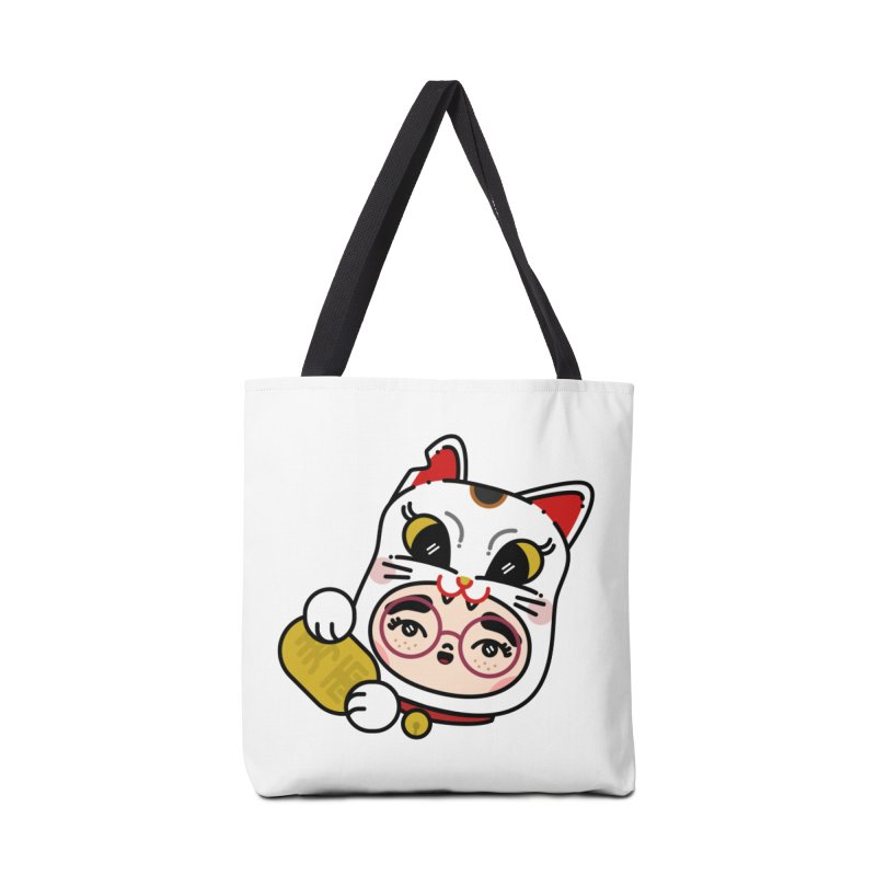 Lucky cat Accessories Bag by 3lw's Artist Shop