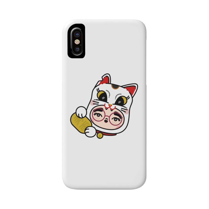 Lucky cat Accessories Phone Case by Cristóbal Urrea