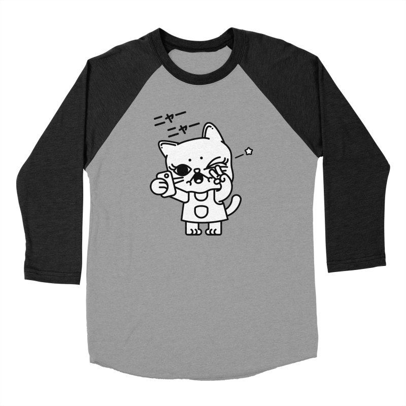 Selfie! Women's Baseball Triblend Longsleeve T-Shirt by 3lw's Artist Shop