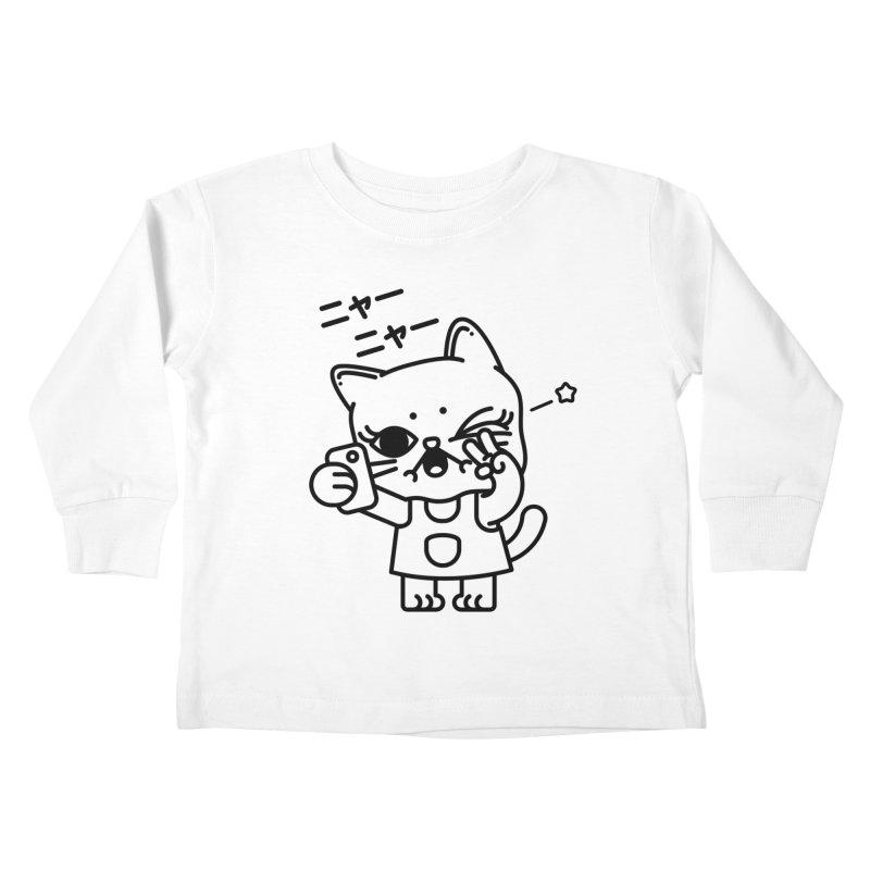 Selfie! Kids Toddler Longsleeve T-Shirt by 3lw's Artist Shop