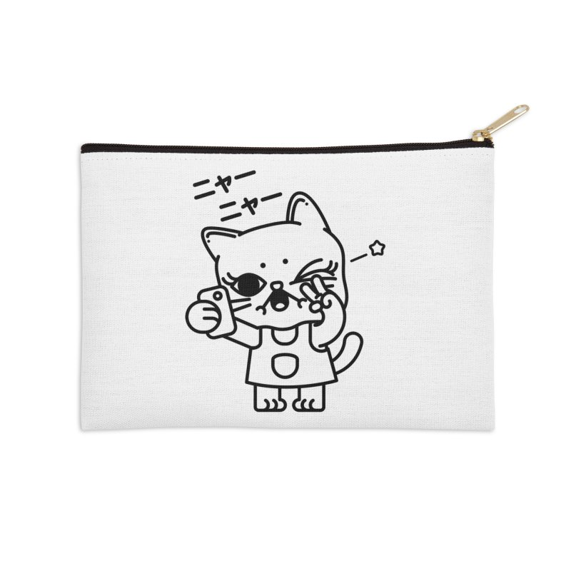 Selfie! Accessories Zip Pouch by 3lw's Artist Shop