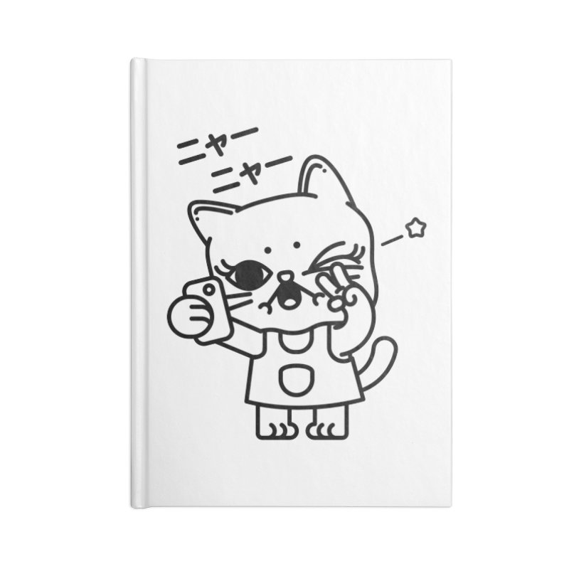 Selfie! Accessories Lined Journal Notebook by Cristóbal Urrea