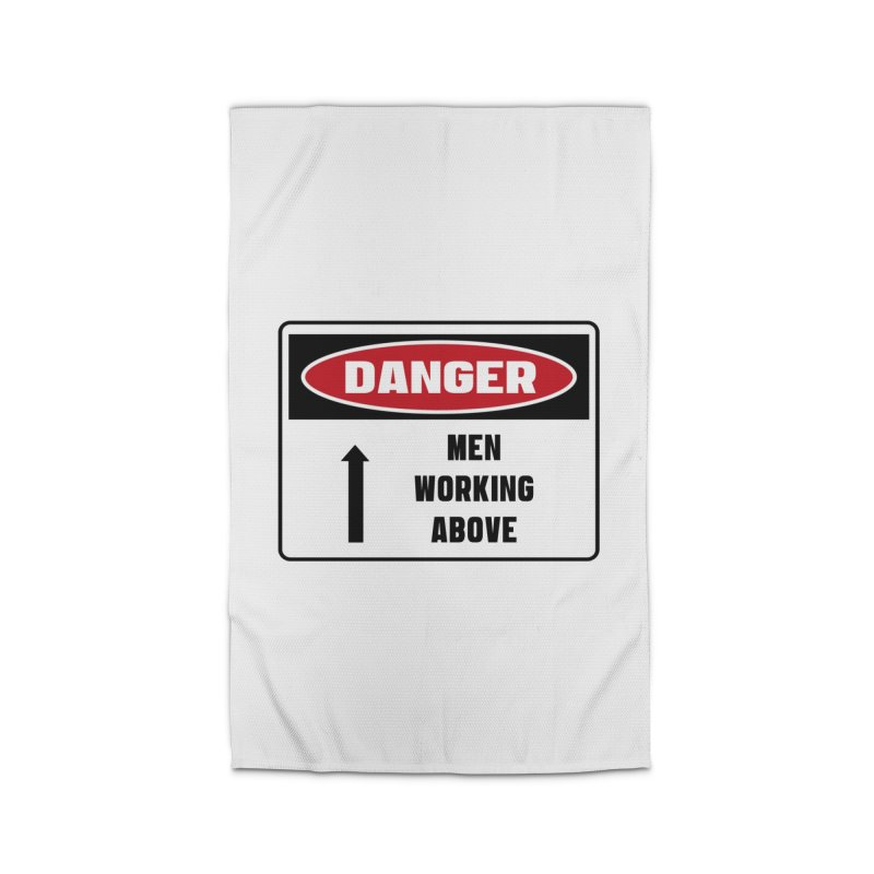 Safety First DANGER! MEN WORKING ABOVE by Danger!Danger!™ Home Rug by 3rd World Man