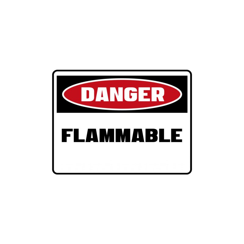 Safety First DANGER! FLAMMABLE by Danger!Danger!™ Women's Zip-Up Hoody by 3rd World Man