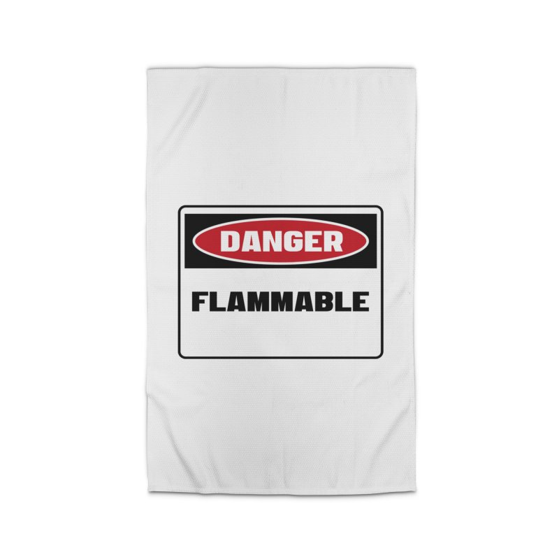 Safety First DANGER! FLAMMABLE by Danger!Danger!™ Home Rug by 3rd World Man