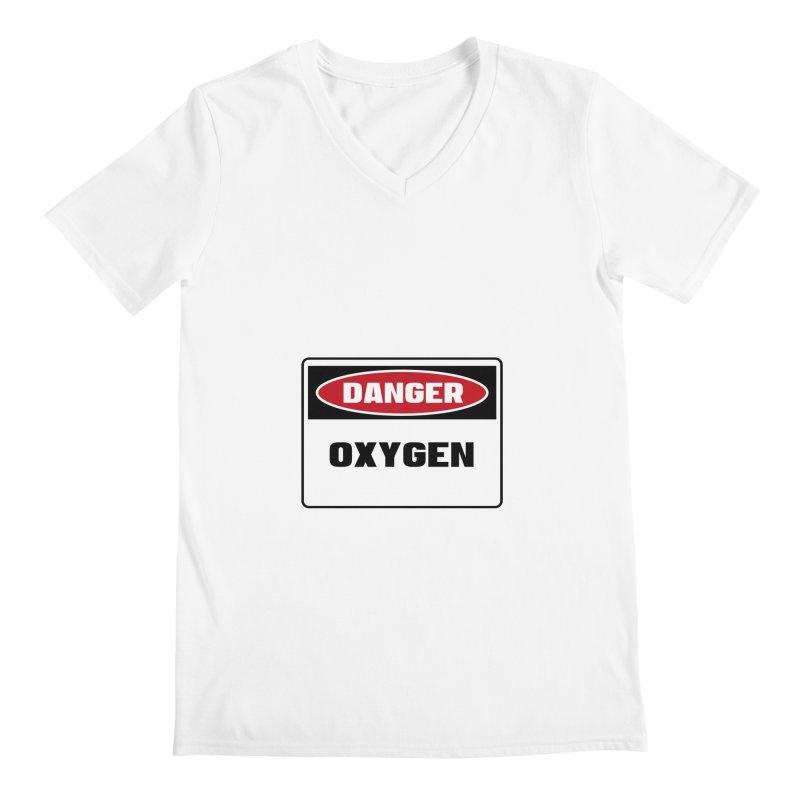 Safety First DANGER! OXYGEN by Danger!Danger!™ Men's V-Neck by 3rd World Man