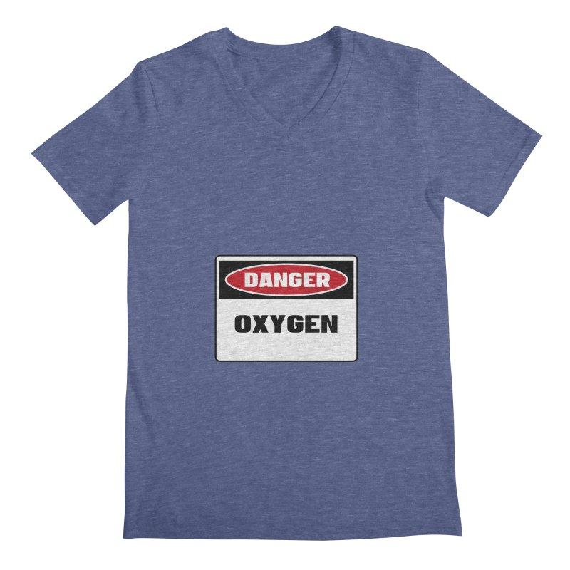 Safety First DANGER! OXYGEN by Danger!Danger!™ Men's Regular V-Neck by 3rd World Man