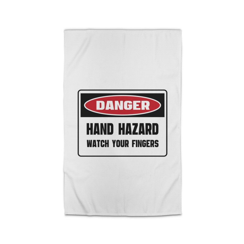 Safety First DANGER! HAND HAZARD. WATCH YOUR FINGERS by Danger!Danger!™ Home Rug by 3rd World Man