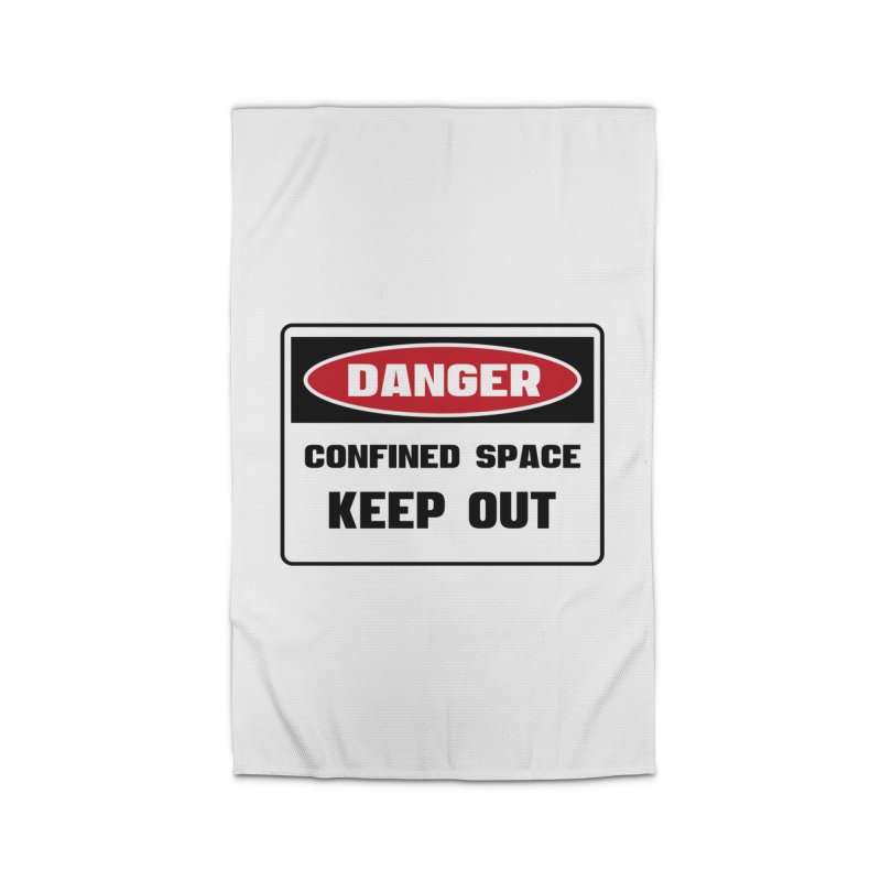 Safety First DANGER! CONFINED SPACE. KEEP OUT by Danger!Danger!™ Home Rug by 3rd World Man