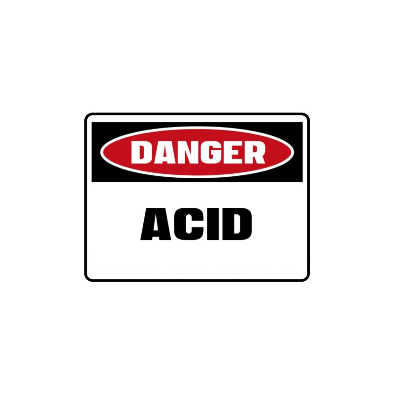 Safety First DANGER! ACID by Danger!Danger!™ Home Duvet by 3rd World Man