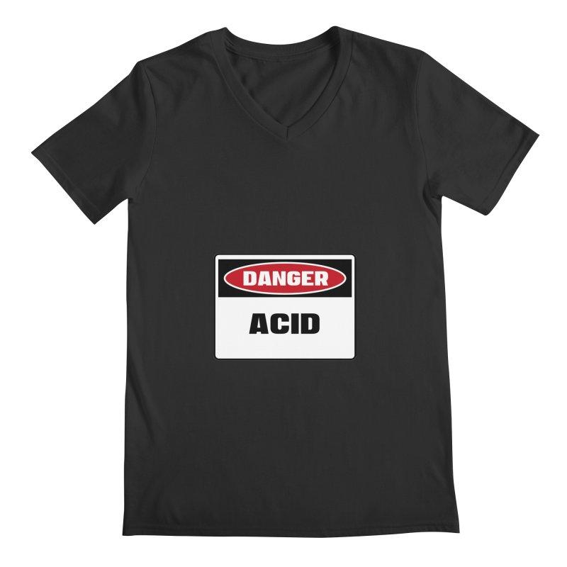 Safety First DANGER! ACID by Danger!Danger!™ Men's Regular V-Neck by 3rd World Man