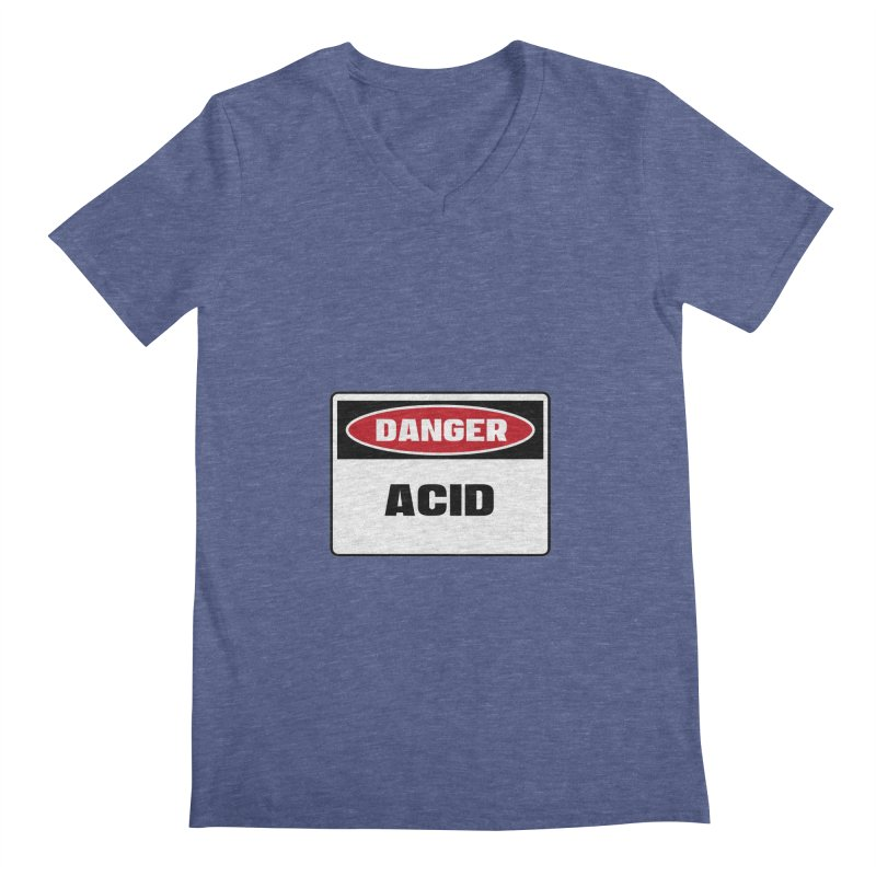 Safety First DANGER! ACID by Danger!Danger!™ Men's Regular V-Neck by 3rd World Man