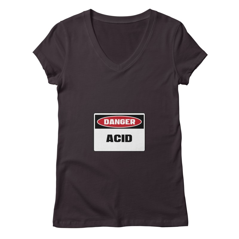 Safety First DANGER! ACID by Danger!Danger!™ Women's V-Neck by 3rd World Man