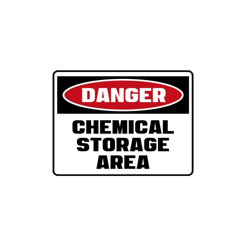 Safety First DANGER! CHEMICAL STORAGE AREA by Danger!Danger!™ Accessories Beach Towel by 3rd World Man