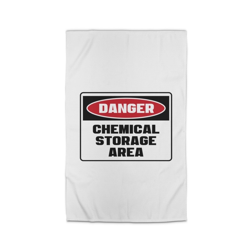 Safety First DANGER! CHEMICAL STORAGE AREA by Danger!Danger!™ Home Rug by 3rd World Man