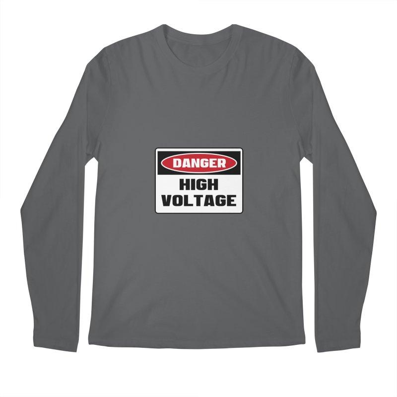 Safety First DANGER! HIGH VOLTAGE by Danger!Danger!™ Men's Longsleeve T-Shirt by 3rd World Man