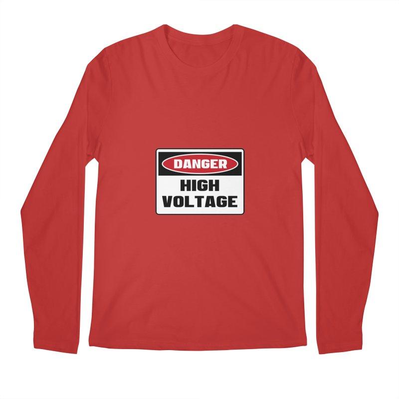Safety First DANGER! HIGH VOLTAGE by Danger!Danger!™ Men's Regular Longsleeve T-Shirt by 3rd World Man