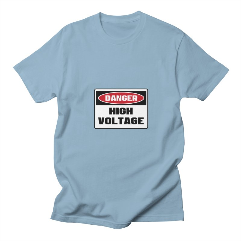 Safety First DANGER! HIGH VOLTAGE by Danger!Danger!™ Men's Regular T-Shirt by 3rd World Man