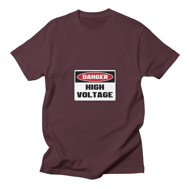 Safety First DANGER! HIGH VOLTAGE by Danger!Danger!™ Women's Regular Unisex T-Shirt by 3rd World Man