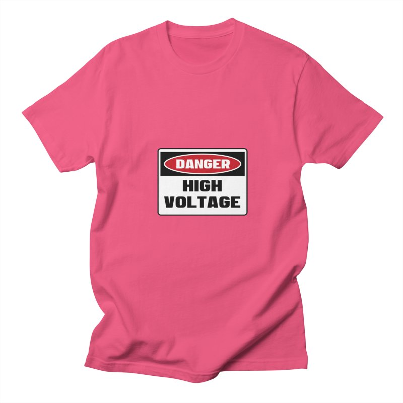Safety First DANGER! HIGH VOLTAGE by Danger!Danger!™ Men's Regular T-Shirt by 3rd World Man