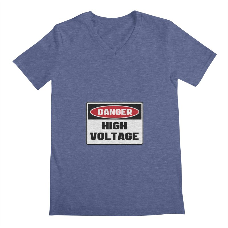 Safety First DANGER! HIGH VOLTAGE by Danger!Danger!™ Men's V-Neck by 3rd World Man