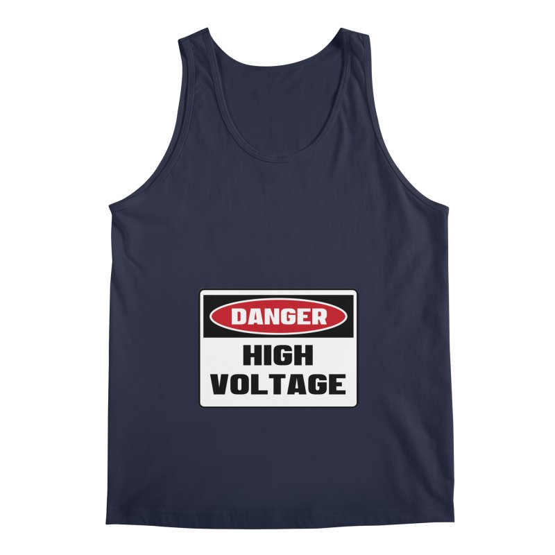 Safety First DANGER! HIGH VOLTAGE by Danger!Danger!™ Men's Regular Tank by 3rd World Man