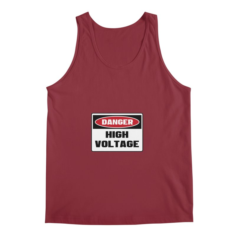 Safety First DANGER! HIGH VOLTAGE by Danger!Danger!™ Men's Regular Tank by 3rd World Man
