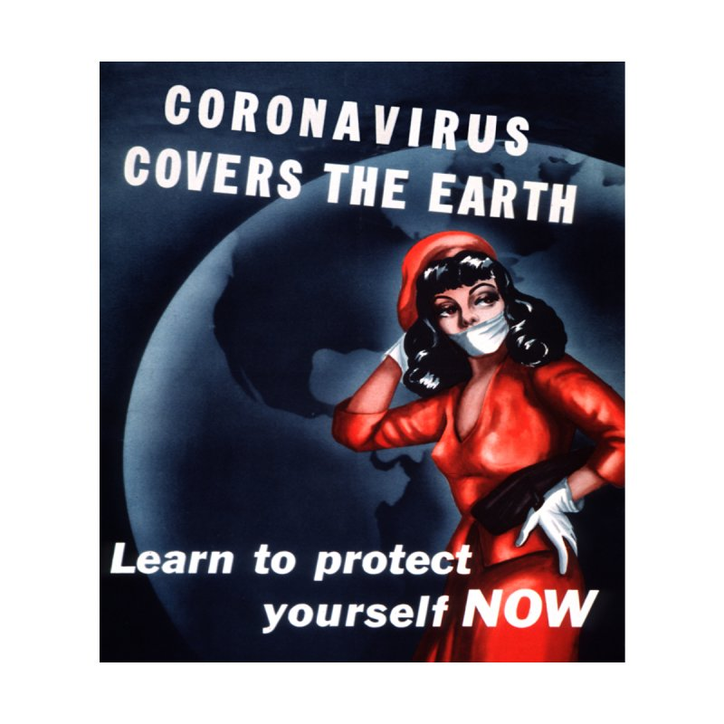 """""""Coronavirus Covers The Earth – Learn To Protect Yourself Now"""" by dontpanicattack!™ Kids Pullover Hoody by 3rd World Man"""