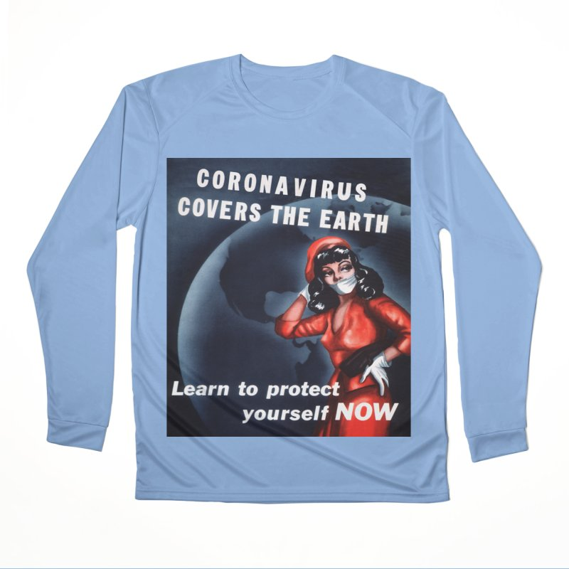 """""""Coronavirus Covers The Earth – Learn To Protect Yourself Now"""" by dontpanicattack!™ Men's Longsleeve T-Shirt by 3rd World Man"""