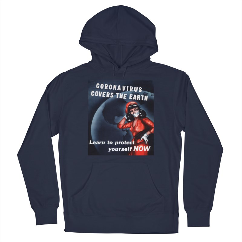 """""""Coronavirus Covers The Earth – Learn To Protect Yourself Now"""" by dontpanicattack!™ Men's Pullover Hoody by 3rd World Man"""