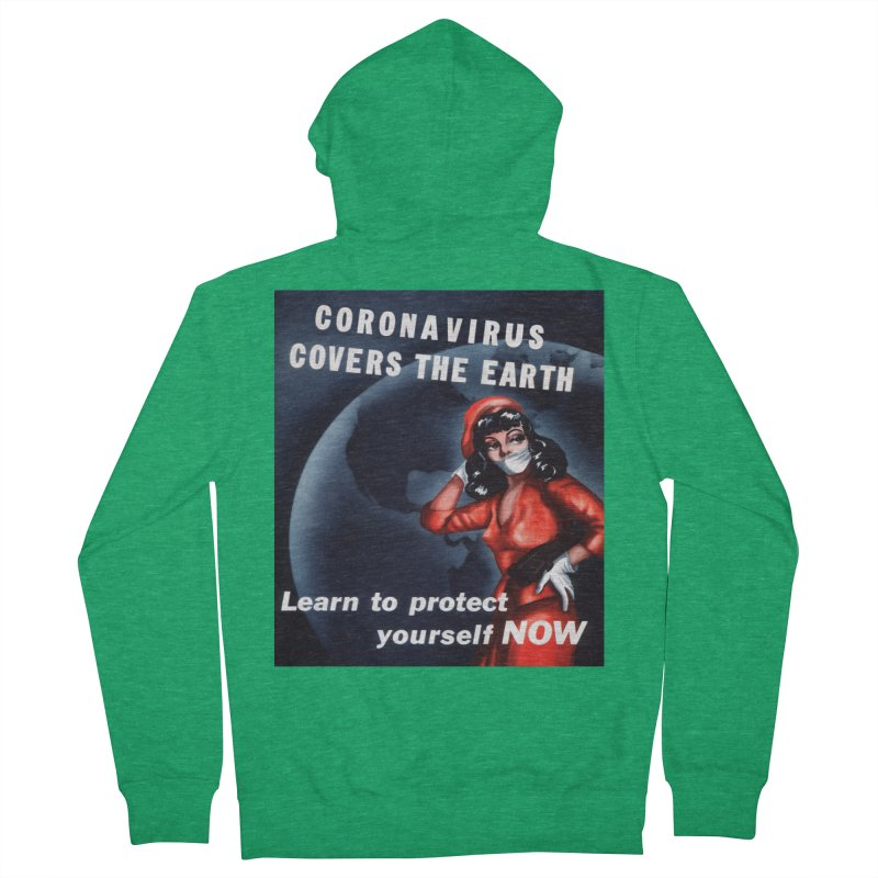 """""""Coronavirus Covers The Earth – Learn To Protect Yourself Now"""" by dontpanicattack!™ Men's Zip-Up Hoody by 3rd World Man"""