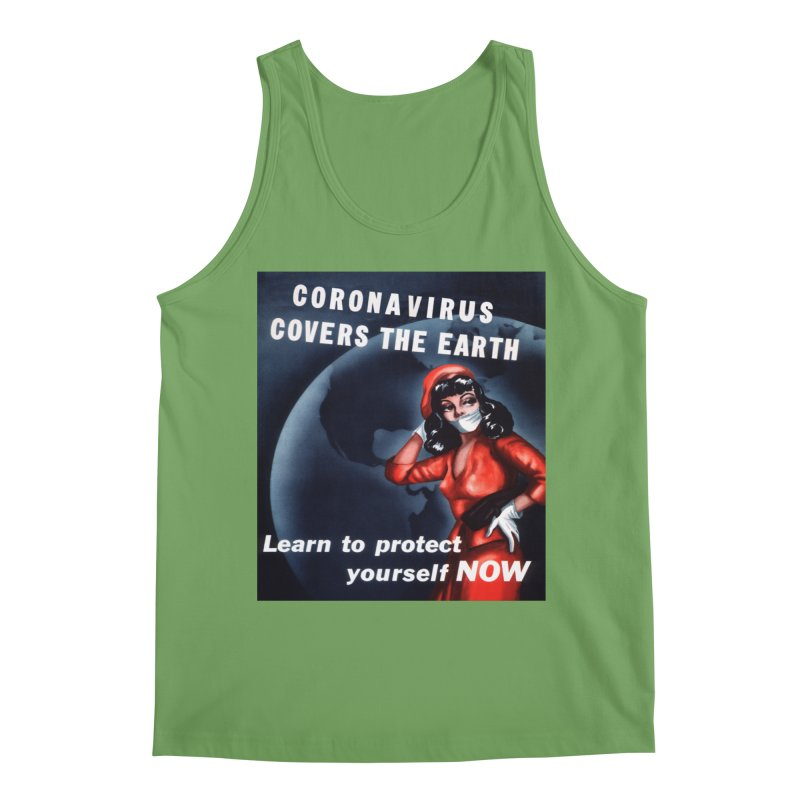 """""""Coronavirus Covers The Earth – Learn To Protect Yourself Now"""" by dontpanicattack!™ Men's Tank by 3rd World Man"""