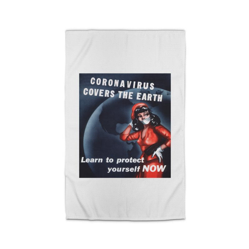 """""""Coronavirus Covers The Earth – Learn To Protect Yourself Now"""" by dontpanicattack!™ Home Rug by 3rd World Man"""