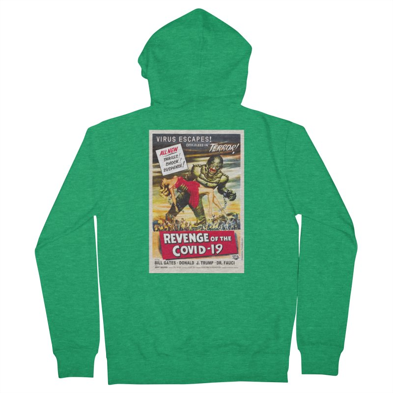 """""""Revenge Of The Covid-19 – Virus Escapes! City Flees In Terror!"""" by dontpanicattack!™ Men's Zip-Up Hoody by 3rd World Man"""