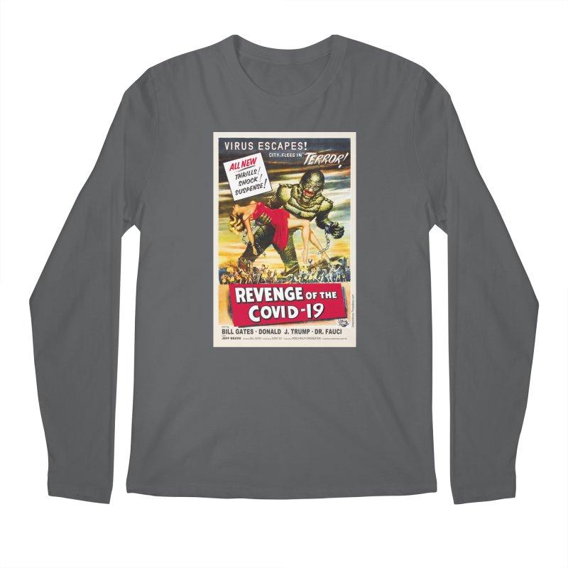 """Revenge Of The Covid-19 – Virus Escapes! City Flees In Terror!"" by dontpanicattack!™ Men's Longsleeve T-Shirt by 3rd World Man"