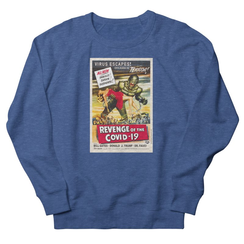 """""""Revenge Of The Covid-19 – Virus Escapes! City Flees In Terror!"""" by dontpanicattack!™ Men's Sweatshirt by 3rd World Man"""