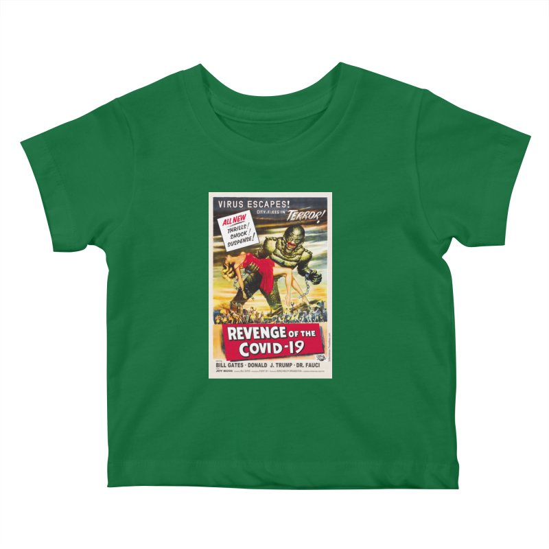 """""""Revenge Of The Covid-19 – Virus Escapes! City Flees In Terror!"""" by dontpanicattack!™ Kids Baby T-Shirt by 3rd World Man"""