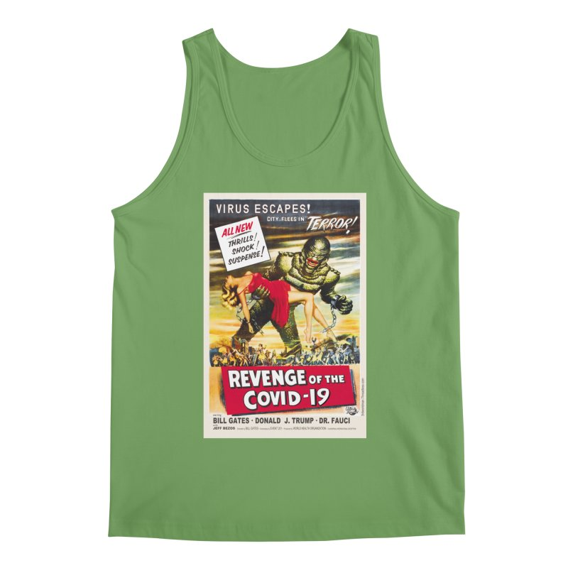 """""""Revenge Of The Covid-19 – Virus Escapes! City Flees In Terror!"""" by dontpanicattack!™ Men's Tank by 3rd World Man"""
