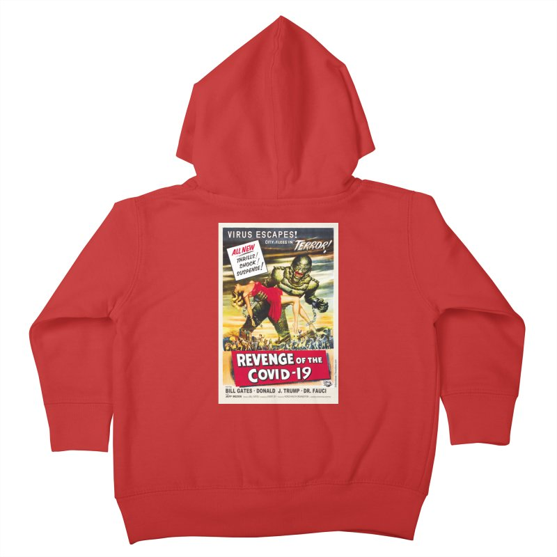 """""""Revenge Of The Covid-19 – Virus Escapes! City Flees In Terror!"""" by dontpanicattack!™ Kids Toddler Zip-Up Hoody by 3rd World Man"""