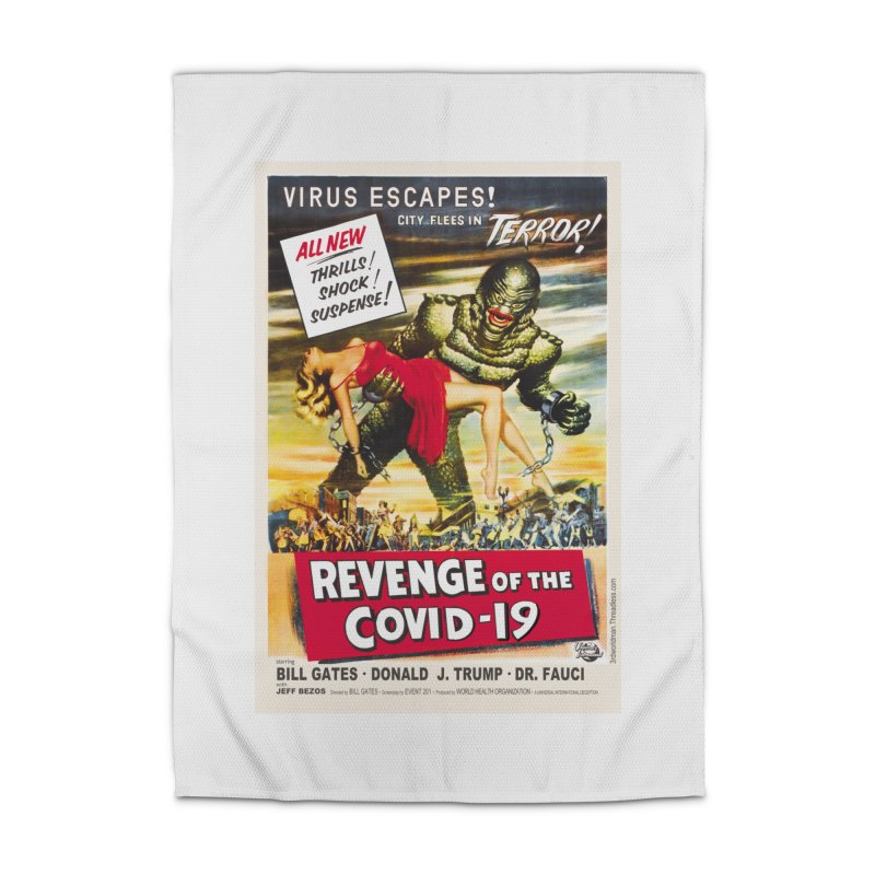 """""""Revenge Of The Covid-19 – Virus Escapes! City Flees In Terror!"""" by dontpanicattack!™ Home Rug by 3rd World Man"""