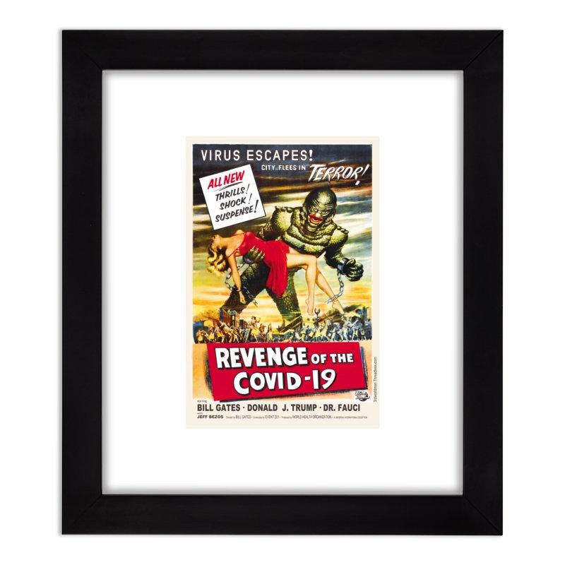 """Revenge Of The Covid-19 – Virus Escapes! City Flees In Terror!"" by dontpanicattack!™ Home Framed Fine Art Print by 3rd World Man"