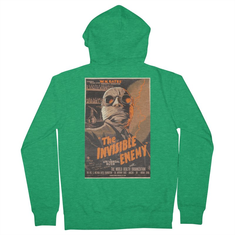 """""""Donald Trump presents W.H. Gates Fantastic Sensation: The Invisible Enemy"""" by dontpanicattack!™ Men's Zip-Up Hoody by 3rd World Man"""