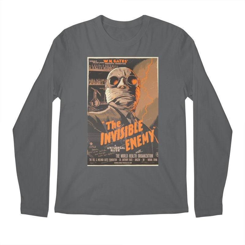 """""""Donald Trump presents W.H. Gates Fantastic Sensation: The Invisible Enemy"""" by dontpanicattack!™ Men's Longsleeve T-Shirt by 3rd World Man"""